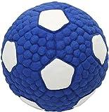 SHANGUP Balle pour chien - Jouet pour chien - Pour chiens de petite, moyenne et grande taille - Jouet à mâcher indestructible - Balle de nettoyage pour les dents agressives (ballon de football bleu)