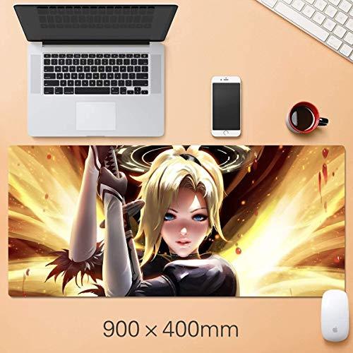 WJFQ Muismat voor muis, spel, muismat, lettertype Pretty Girl, muismat, toetsenbord pad, gamingmat, muis, computer PC Desk