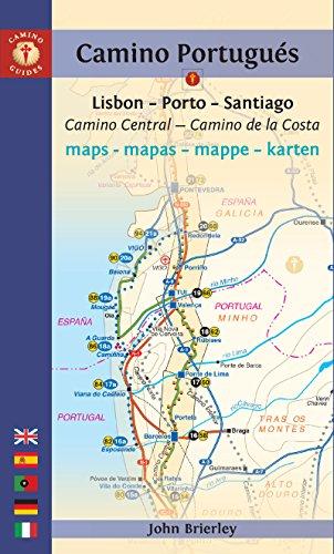 Mapa-Guía Camino portugués (Lisboa-Oporto-Santiago). Findhorn. (Camino Guides) [Idioma Inglés]: Lisboa-Porto-Santiago