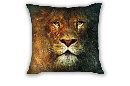 Damuyas Housse de coussin carrée motif tête de lion 43 x 43 cm