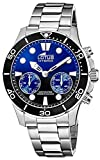 Lotus 18800/3 Connected Collection, 44.5 mm Blue Case with Steel Strap for Men (Model
