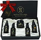 Regalo Donna Antietà Biologico 5x30ml: Siero Vitamina C A E + Siero Acido Ialuronico e Crema Viso, Gel Aloe Vera, Olio di Argan Bio - Regalo Compleanno per Lei Vegano Made in Germany
