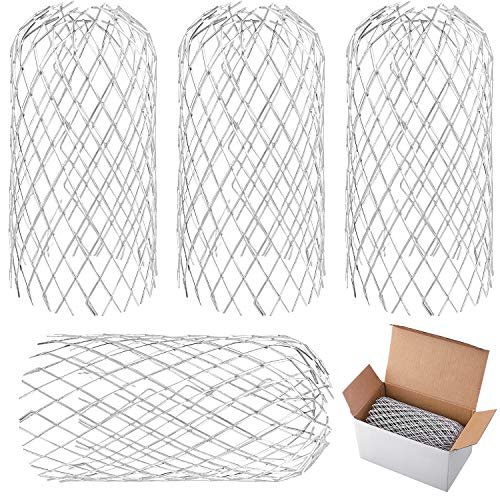 URATOT 4 Pack Aluminum Gutter Guards Expandable Filter Strainer Leaf Strainer Gutter Sieve Metal Downpipe Protection Guards for Gutter, Downpipe