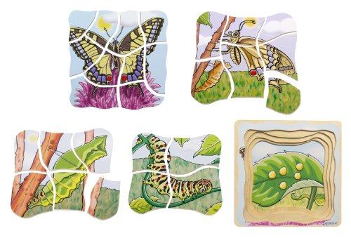 Beleduc - 17054 - Puzzle À Superposition En Bois - Papillon - 28 Pièces
