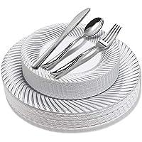 125-Piece Plastic Dinner Set