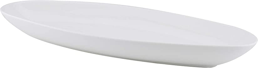 Shallow DD2000 Serving Plate, White, 40 cm, White, Porcelain, Oval