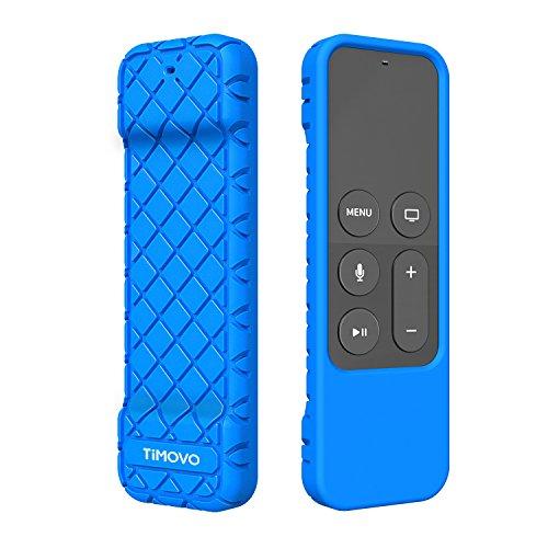 TiMOVO Schutzhülle Kompatibel mit Apple TV 4K/4th Gen Remote, Anti-Rutsch und Stoßfeste Leicht Weich Silikon Hülle für Apple TV 4K Siri Fernbedienung, Blau