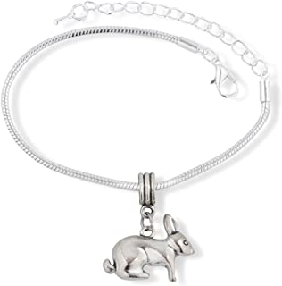 EPJ Sheep with White Head Black Body and Tan Face Snake Chain Charm Bracelet