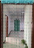 ZiDeTang - Cortina de cuentas acrílicas para puerta o decoración del hogar con borlas