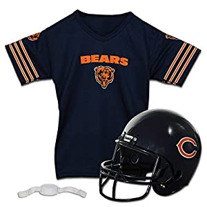 Franklin Sports NFL Chicago Bears Kids Football Set, Includes Helmet, Chinstrap and Jersey
