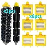 Accesorios de limpieza para cepillo lateral principal piezas de repuesto para aspiradora Cecotec Conga 3090 Robot Aspiradora de repuesto (color: azul) (color: juego de 8 piezas) brus