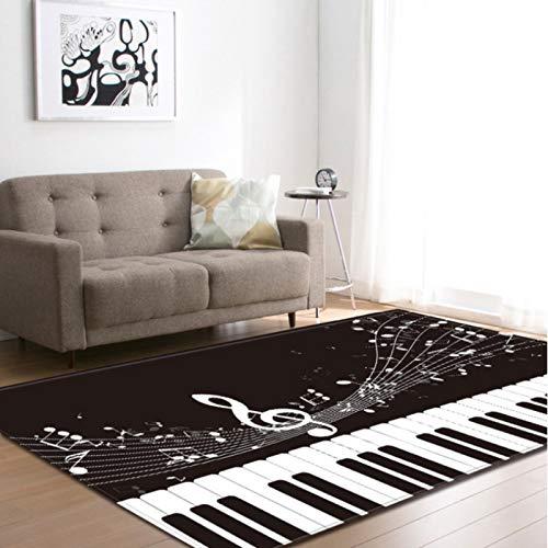 lili-nice Tappeto Spartiti per Pianoforte Tappeti Anti-Scivolo Tappetini per Bambini Tappetino Soggiorno Camera da Letto Comodino Tappeto Tappetino 140X200Cm
