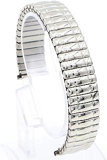 Hemobllo Cinturino per Orologio Elastico in Acciaio Inossidabile per Uomo (Argento 16 mm)