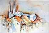 Poster 91 x 61 cm: Bamberg von Brigitte Dürr -