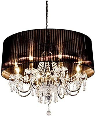 Beaumont 5 Light Shade Chandelier, Glass, Black: Amazon.co