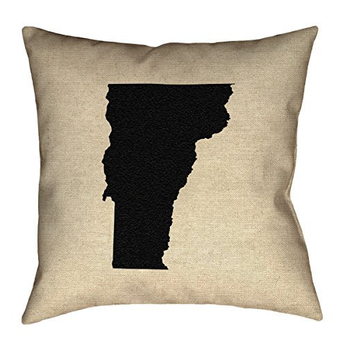 ArtVerse Katelyn Smith 18 x 18 Indoor//Outdoor UV Properties-Waterproof and Mildew Proof South Dakota Pillow
