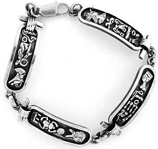 Egyptian Jewelry Silver Cartouche Bracelet