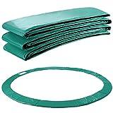 Arebos Trampolin Randabdeckung Federschutz | 183, 244, 305, 366, 396, 457 oder 487 cm | aus PVC und PE | Reißfest | 100% UV-beständig | Grün (grün, 244 cm)