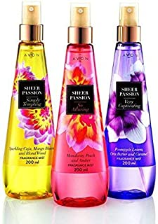 Avon Sheer Passion Body Myst (set of 3 of 200 ml each)