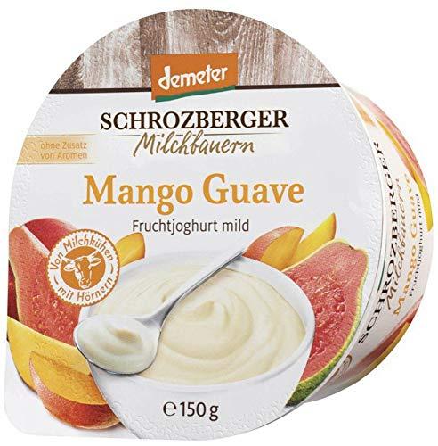 Schrozberg Bio demeter Fruchtjoghurt mild Mango-Guave (6 x 150 gr)