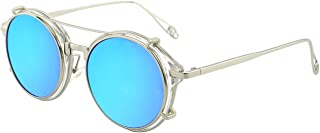 Clip on Steampunk Polarized Sunglasses Alloy Double Lens for Men and Women