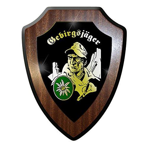 Wappenschild- Gebirgsjäger GebJg Edelweiss Bw Abzeichen Emblem #10042