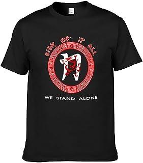 Tシャツ メンズ Sick Of It All 半袖 ゆったり 丸首 肌触りよく 柔らかい 上質 気楽 ファッション 普段着 外出 スポーツ 吸水速乾 通気性抜群 耐久性 ダブルプリント