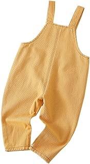 Fairy Baby Baby Boys Girls Casual Denim Bib Overalls Solid Bottom Suspender Long Pants