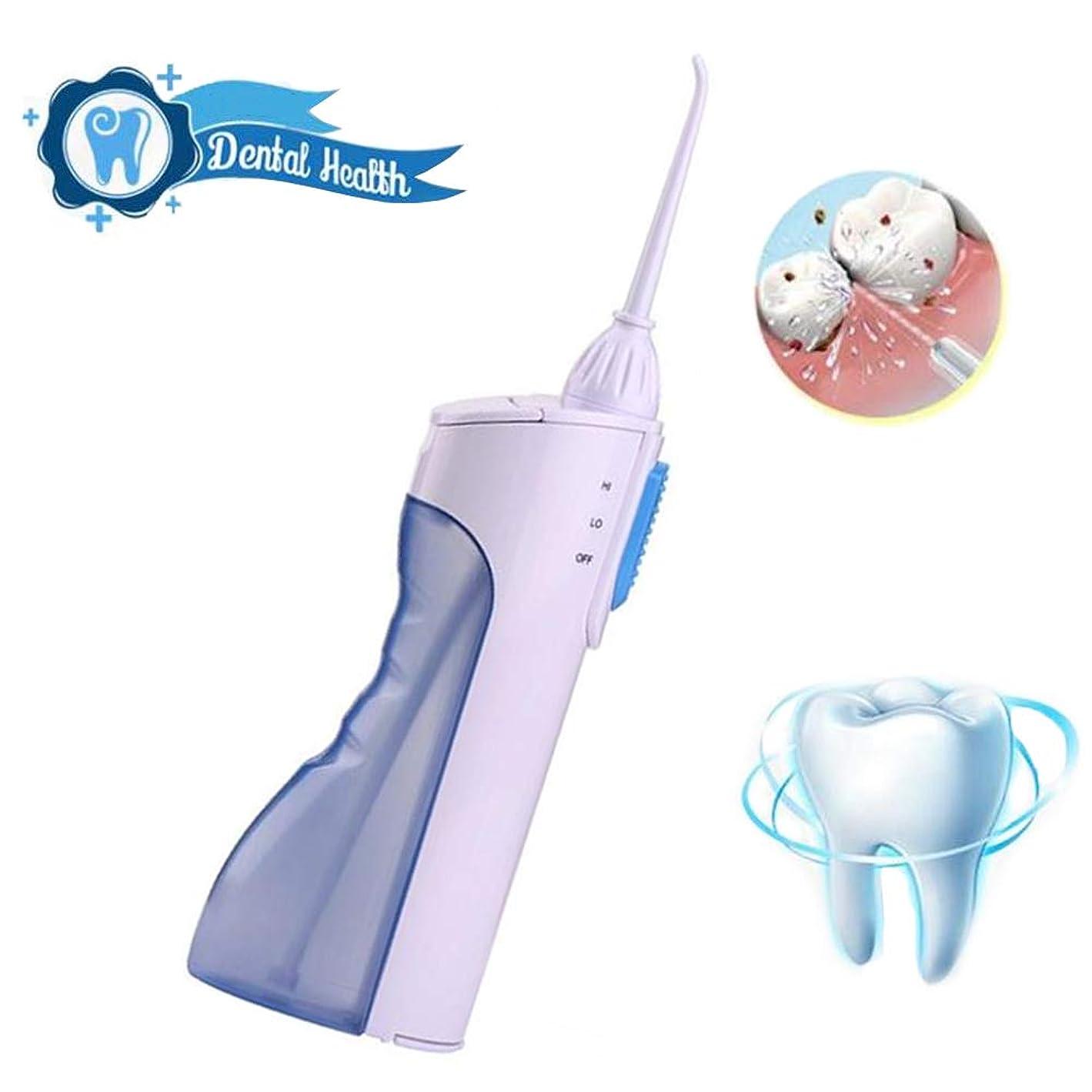トライアスロン脈拍巨人歯のための水フロッサー、165mlタンクと2つのジェット機の先端が付いている携帯用専門のコードレス歯科口頭潅漑器、2つのクリーニングモード