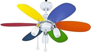 Interfan Ventilador Parchís, Multicolor