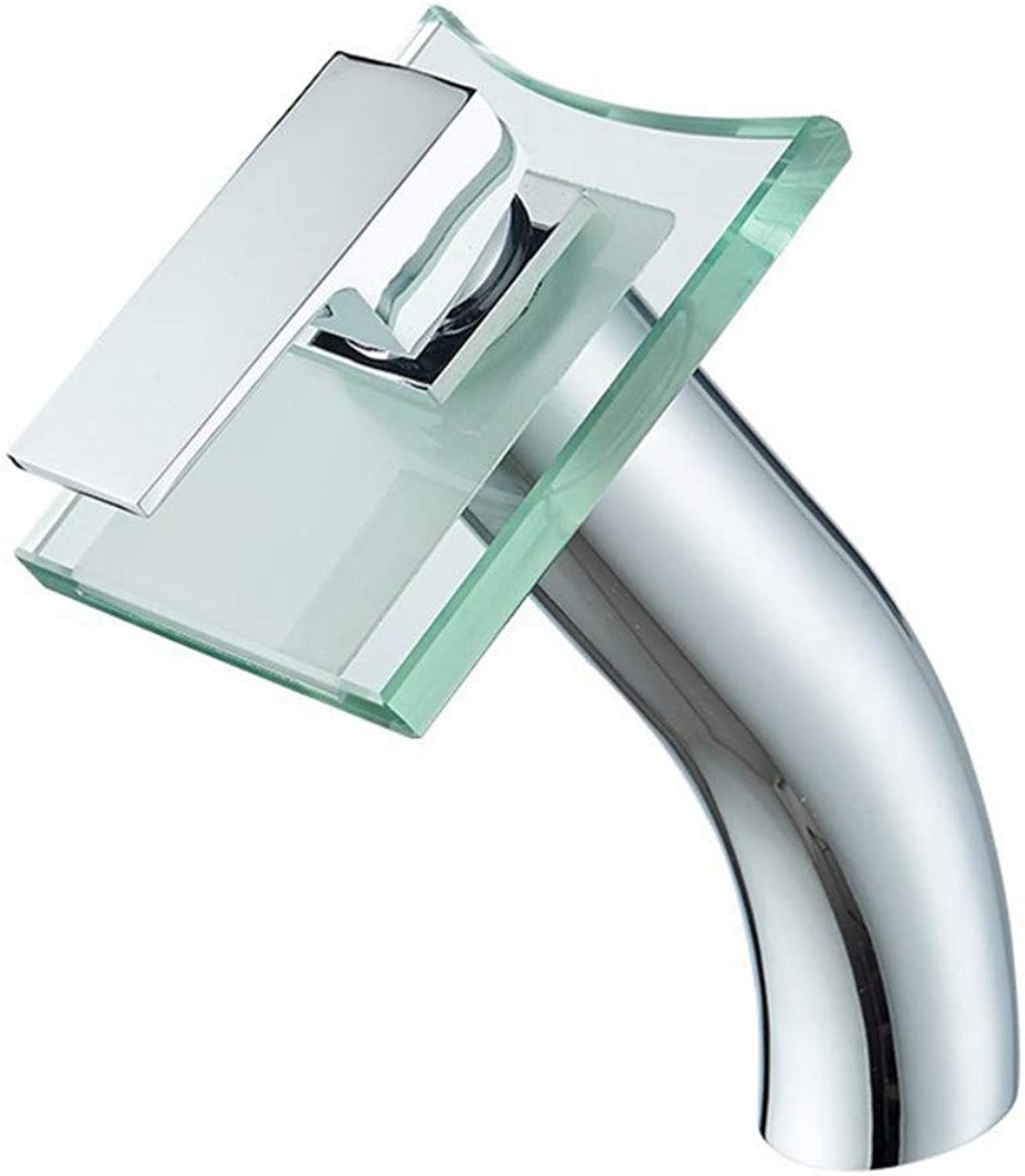 Kitchen & Bath Fixtures Taps Faucet,Bathroom Basin Faucet Plating Single Hole Hot and Cold Water Mixer