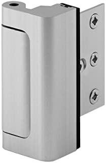 "Best Defender Security Satin Nickel U 10827 Door Reinforcement Lock – Add Extra, High Security to your Home and Prevent Unauthorized Entry – 3"" Stop, Aluminum Construction Finish Reviews"