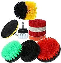 DORLIONA 10pcs Drill Brush Attachment Set Scrub Pads Power Scrubber Kitchen Cleaning T1Q6