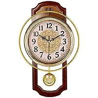 家具装飾壁掛け時計モダンヨーロピアンスタイル振り子時計振り子時計アートファッションパーソナリティシンプルミュート時計D27× 46× 6cm