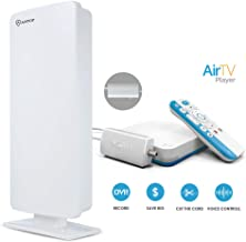 AirTV Player with Dual-Tuner Adapater and ANTOP Outdoor/Indoor HDTV Antenna, 4K Sling TV Integrated Media Streamer and live local channels with NO MONTHLY FEES, Supports DVR capabilities&Voice Capable