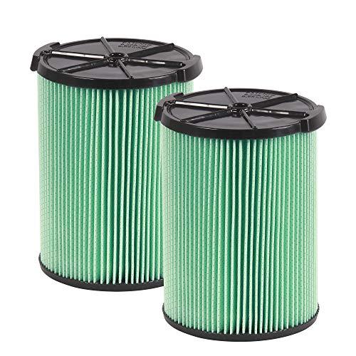 WORKSHOP Wet/Dry Vacs Vacuum Filters WS23200F2 HEPA Media Filter For Shop Vacuum Cleaner (2pk - HEPA Media Filter For Wet/Dry Vacuum Cleaner) Fits WORKSHOP 5-Gallon to 16-Gallon Shop Vacuum Cleaners