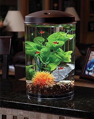KollerCraft API Aquaview 360 Aquarium Kit with LED Lighting and Internal Power Filter, 3-Gallon
