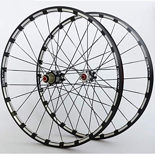 ZLYY Ruedas de bicicleta de montaña juego de ruedas de aleación de doble pared borde carbono Core F2 R5 Palin rodamiento de liberación rápida freno de disco 9 10 11 velocidad 1742g, B, 29 pulgadas