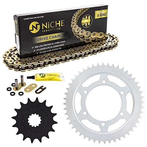 NICHE Drive Sprocket Chain Combo for Yamaha YZF R6S YZF R6 Front 16 Rear 48 Tooth 530VM-X X-Ring 116 Links