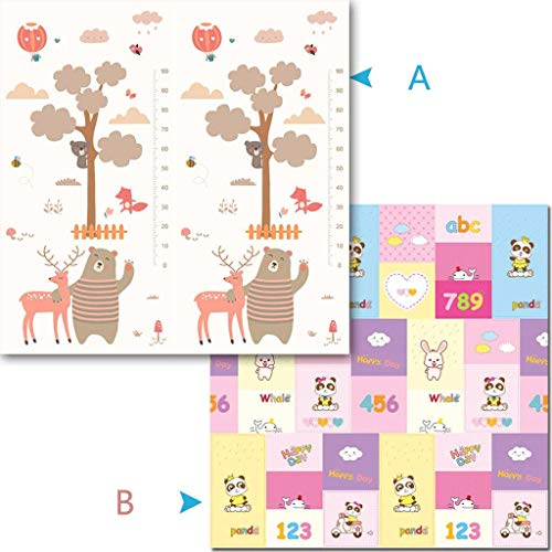 Great Features Of Infants Play Mat,Kids Crawling Mat Baby Game Mat Foldable Carpet Kids Foam Mat Dob...