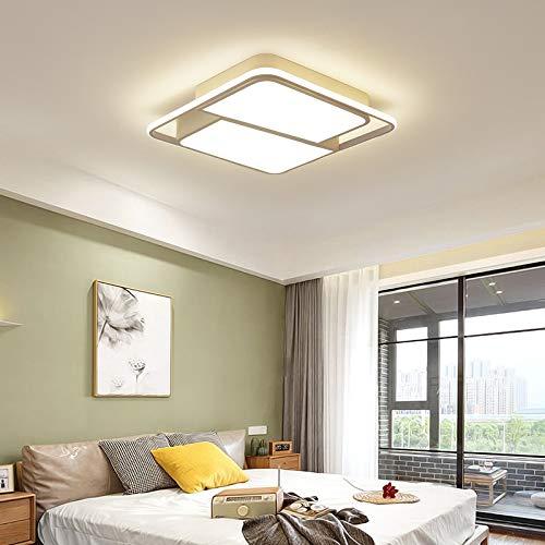 Tonhandisplay LED Deckenleuchte N8991-50x50x10 mit Fernbedienung Lichtfarbe/Helligkeit Innen einstellbar Rahmen 4500 Kelvin Kaltweiß A+ (N8991-50x50x10)