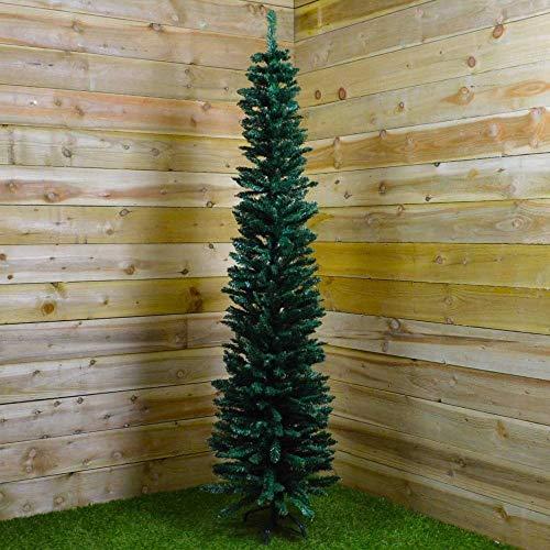 Powzz ornament 200CMWeihnachtsbaum Green Pencil Pine Slim Tree 200 x 56cm vonWeihnachten