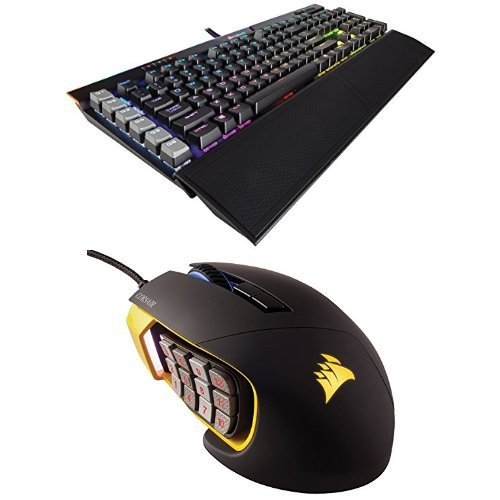 Corsair Gaming K95 RGB PLATINUM Mechanical Keyboard, Cherry MX Brown, Black (CH-9127012-NA)