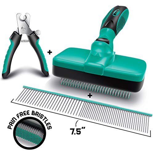 Ruff 'n Ruffus Self-Cleaning Slicker Brush + 2 Free Bonuses | 7.5