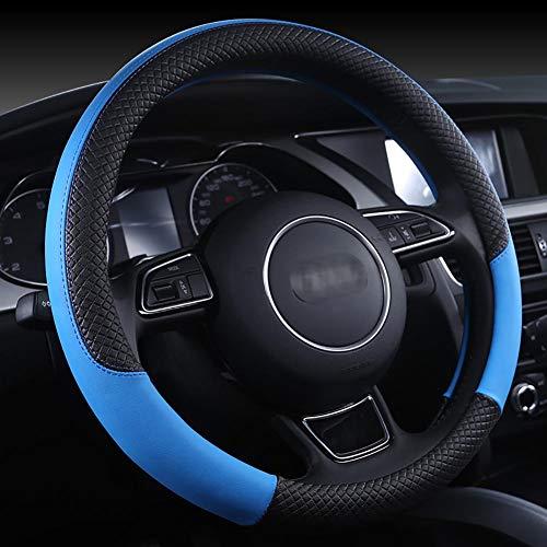 Housse De Volant De Voiture Cuir D'été Diamètre 38Cm Enjoliveur De Roue Respirant Confortable Four Seasons Universal,Blue