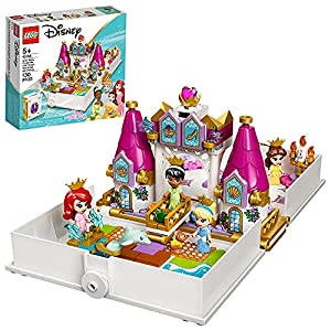 Kick-start creative role play or play out favorite movie scenes with this LEGO Disney Ariel, Belle, Cinderella and Tiana's Storybook Adventures (43193) set. Play starts with opening the book What fun is waiting to be had in the castle? This cool set ...