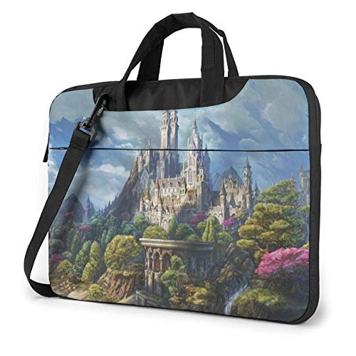 15.6″Durable Hombro Mensajero Bolsa maletín PC Pergaminos Antiguos Moda Impermeable Ordenador Portátil/portátil/Tablets