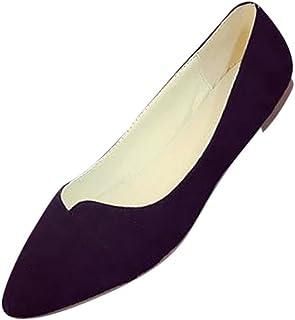 612966ea0720ed Coloré Mary Jane Femme Mode Escarpins Noir Escarpins (TM) Femmes Bout  Pointu Ballerines Slip