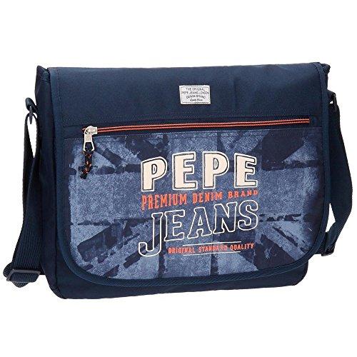 Pepe Jeans Dales Jr Mochila Escolar, 38 cm, 11.78 Litros, Azul