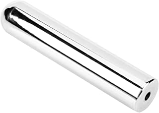 Timiy Solid Stainless Steel Tone Bar Guitar Slide Tone Bar for Electric Hawian Guitar (Silver)